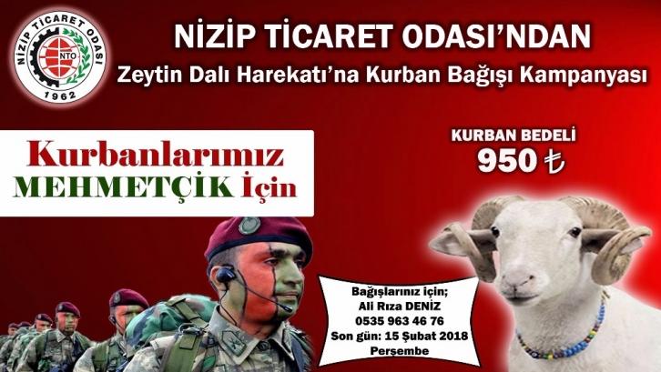 NTO'dan Zeytin Dalı Harekat'ına kurban bağışı kampanyası