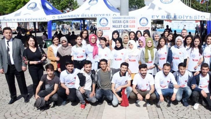 GAÜN öğrencilerinden kan bağışı kampanyası