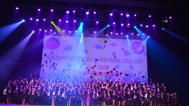GKV Özel Liseleri 54.yıl mezunlarını kep töreniyle uğurladı