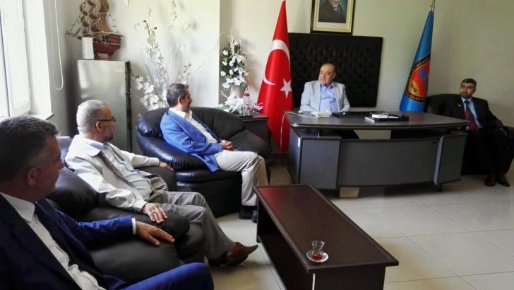 SAADET PARTİSİ ADAYLARI ÜNAL AKDOĞAN'I ZİYARET ETTİLER