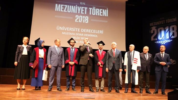 HKÜ 10. yılında mezunlarını uğurlamanın gururunu yaşadı