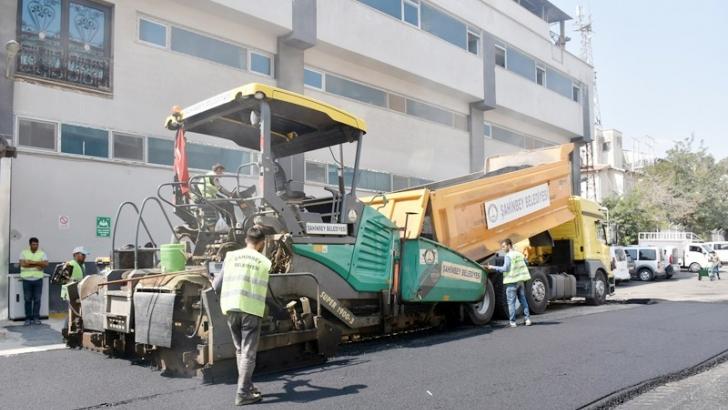 Tekstilkent'e asfalt