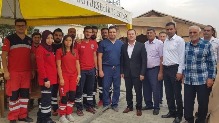 Karkamış Belediye Başkanı Doğan'dan sınır hattında inceleme yaptı