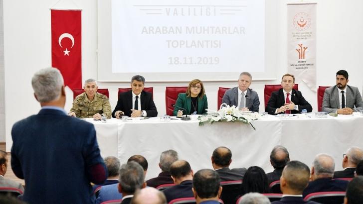 Vali Gül, Araban'da incelemelerde bulundu
