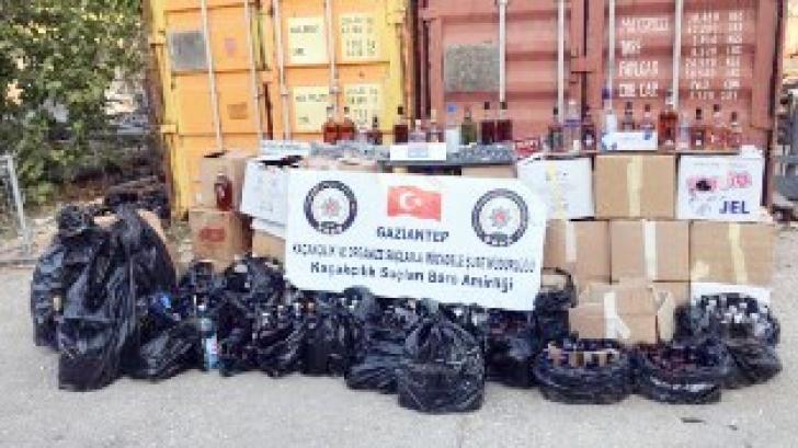 765 şişe sahte alkol ele geçirildi