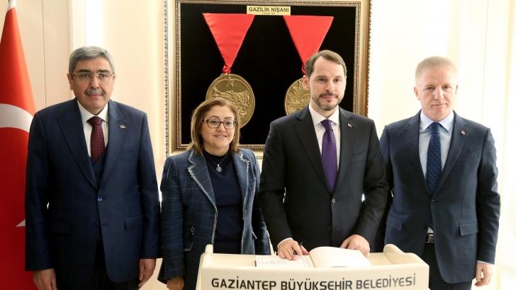BAKAN ALBAYRAK, BAŞKAN ŞAHİN'İ ZİYARET ETTİ