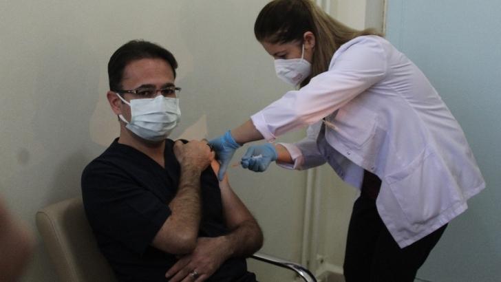 Gaziantep'te korona virüs aşısının ikinci dozu yapılmaya başlandı
