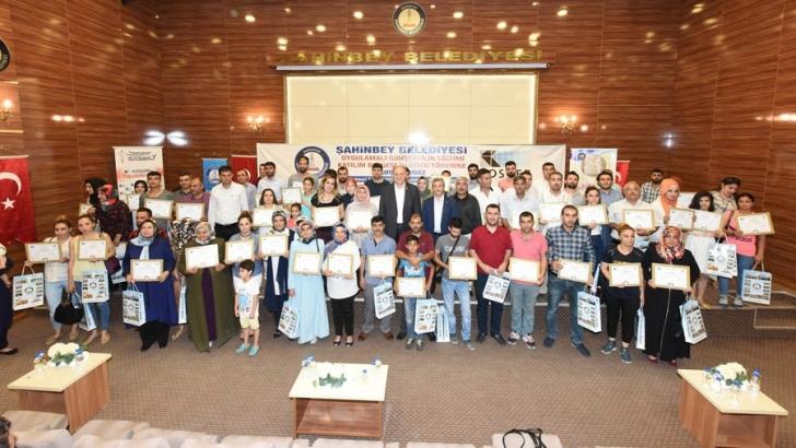 Şahinbeyli girişimciler sertifikalarını aldı