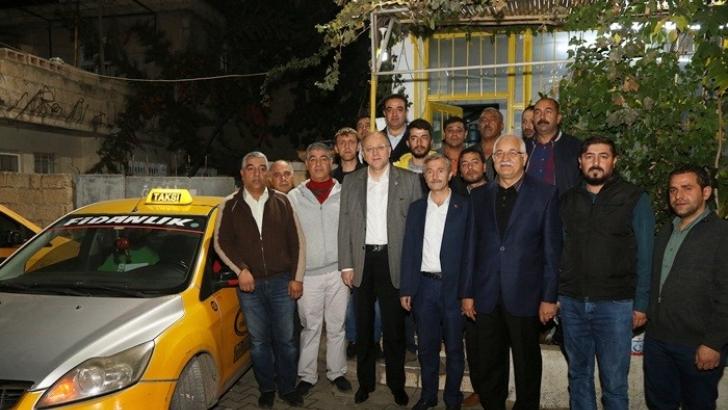 Tahmazoğlu taksicileri ziyaret etti