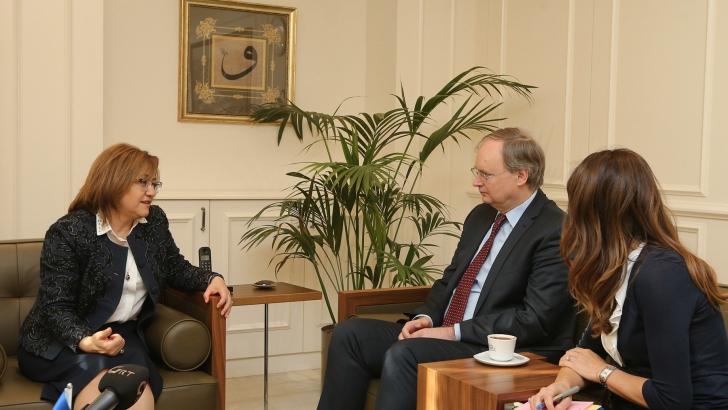 Şahin, AB Türkiye Delegasyon Büyükelçisini ağırladı