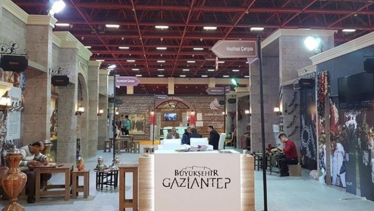 YAPEX Fuarı'nda Tarihi Antep Çarşıları canlandırıldı