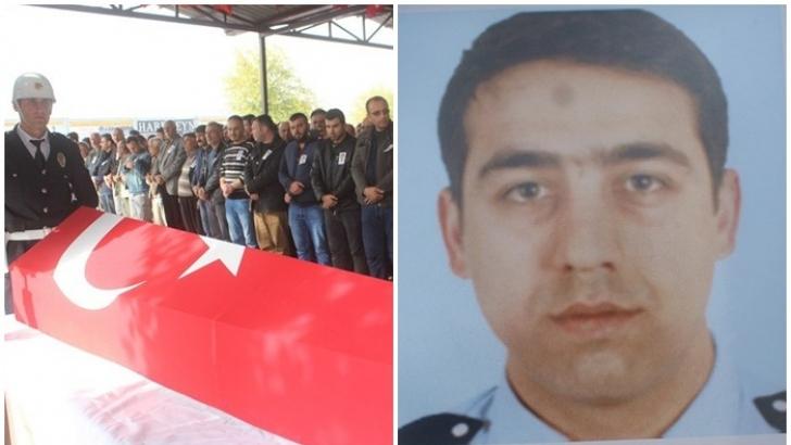 Gaziantepli polis toprağa verildi