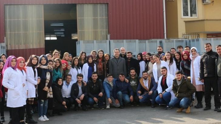 Üniversite sanayi işbirliği kapsamında öğrenciler sahaya indi