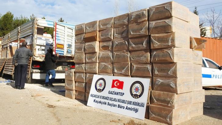 140 bin paket kaçak sigara ele geçirildi