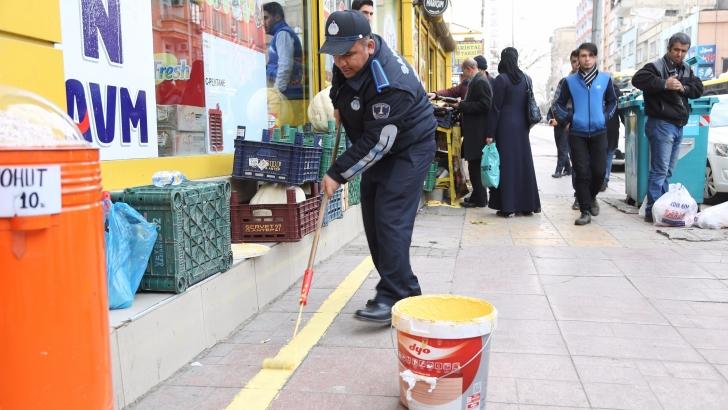Şahinbey Belediyesi'nden sarı çizgili önlem