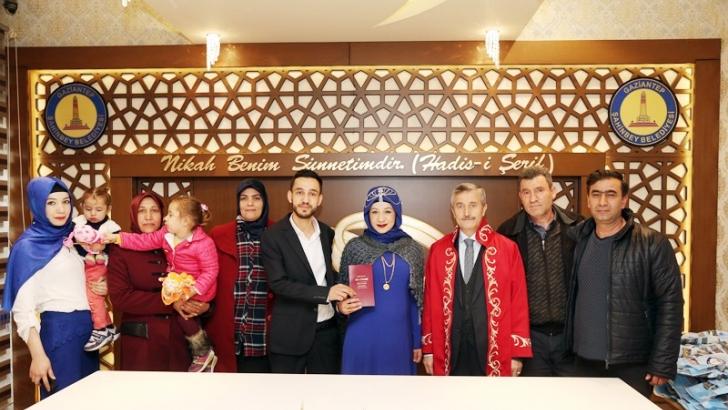 Türkiye'de en çok nikah Şahinbey'de kıyılıyor