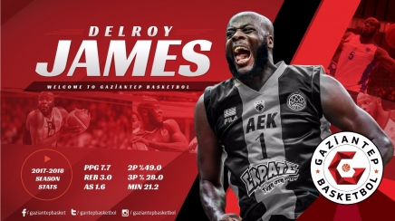 Delroy James Gaziantep Basketbol'da
