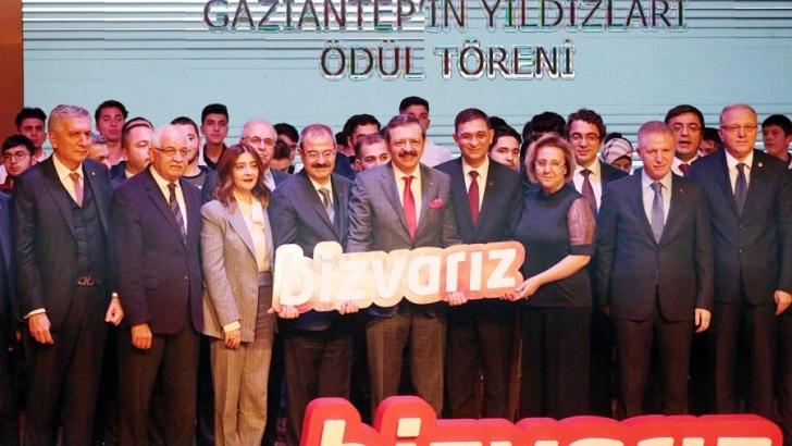 GAZİANTEP'İN YILDIZLARI ÖDÜLLENDİRİLDİ