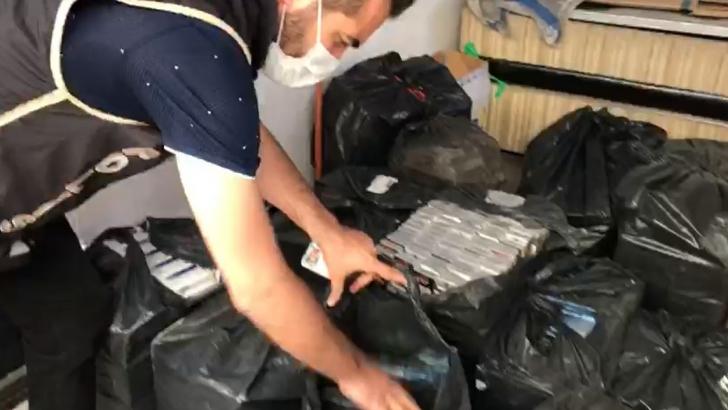 4 bin 680 paket kaçak sigara yakalandı