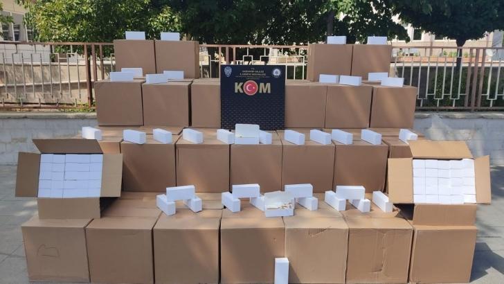 1 milyon adet kaçak makaron ele geçirildi